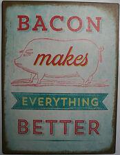 Iron Tin Metal Sign Home Kitchen Bacon make everthing better mom Decor wall art