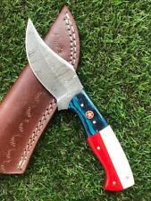 CUSTOM HANDMADE TWIST DAMASCUS STEEL SKINNER HUNTING KNIFE X 50