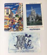 Tokyo Disneyland Vintage Phone Cards Used Lot Of 3 - (7231)