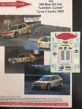 DECALS 1/43 PEUGEOT 306 MAXI KIT CAR LANDON RALLYE LYON CHARBONNIERES 2002 RALLY