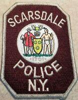 NY Scarsdale New York Police Patch