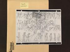 Disney comparison size sheets The Black Cauldron 16 pages