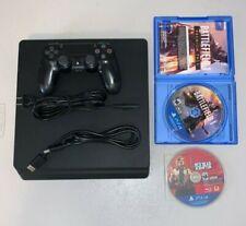 New listing Sony Playstation 4 Slim. Black. 500Gb. Dual Shock Controller + Cords + Games