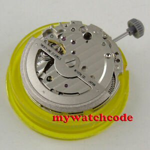 21 jewels miyota 821A date window automatic mechanical movement hacking function