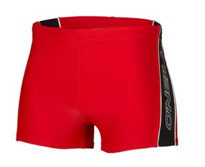 O'NEILL Mens Cherry Red Insert Regular Fit Swimming Tights Trunks BNWT