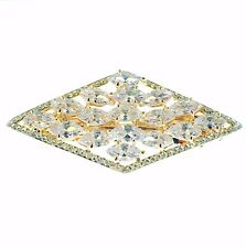 USA BARRETTE use Swarovski Crystal Hair Clip Hairpin Elegant Jeweled Gold K02