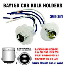 BAY15D CAR BULB HOLDERS BRAKE & TAIL BULBS 380 12V & 24V