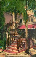 Linen Postcard Ca I226 Bakersfield Inn Way Side Inns World Famous U.S. 99 Hwy