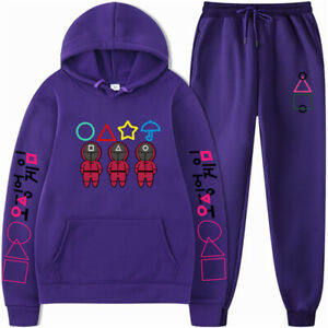 For Halloween Men Fashion Tracksuit 2 Piece Pants Hoodie Sports Hip Hop Set
