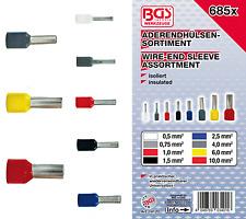 Aderendhülsen Sortiment Set Aderendhülse Presshülsen isoliert 685 tlg.