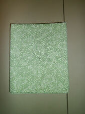 1-Green and White Paisley Print Queen Size Pillowcase New & Handmade!