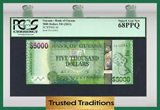 TT PK 40 2011 GUYANA BANK OF GUYANA 5000 DOLLARS PCGS 68 PPQ SUPERB GEM NEW