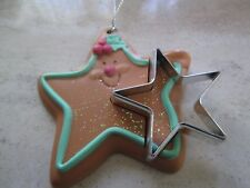 AVON VINTAGE*COOKIE CUTER CUTIES ORNAMENT* *STAR**NEW NO BOX*OLD STOCK VERY RARE