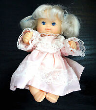 Remco Doll Baby Infant Blue Eyes Dress Blonde Hair Doll Marked Hong Kong