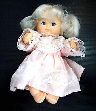 Remco Baby Infant Doll Blue Eyes Dress Blonde Hair Marked Hong Kong
