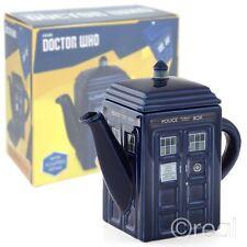 New Doctor Who Ceramic TARDIS Teapot Tea Official Licensed