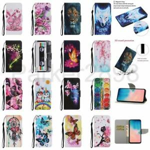 For iPhone 12 11 Pro XR XS MAX SE2 8 7 6 Plus Pattern Leather Wallet Case Cover