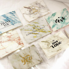 Thank You Greeting Cards with Matching Envelope Marble 8 Styles Special Events