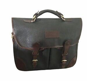 Brooks Brothers VTG Faux Leather  Messenger Bag Crossbody 14x12x5 MISSING STRAP
