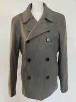 JUNK DE LUXE Men's coats GREY 80%WOOL SIZE M