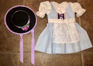 Made To Fit Custom American Girl Doll Kirsten Samantha Molly Swiss Dress Hat Set