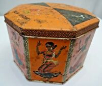 Vintage Tin Advertising Of Tea Air India Symbol Of Friendship Collectibles Old*