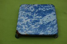 ANTICO SOTTOPIATTO IN LAMIERA SMALTATA - Tono di blu