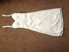 used wedding dress white small long fancy formal halter beading 0 2 xs