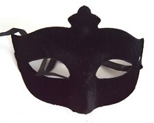 NEW Black velvet Masquerade Mask Eye Prom Gothic halloween