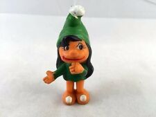 SMURF - ORANGE BLACK GREEN EMPIRE GNOME 1978 - GIRL Smurfette STYLE FEMALE PVC