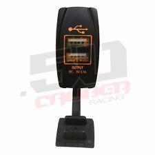 Dual Usb Rocker Switch Type A 5v 31a Orange Rzr General Teryx Viking Rhino Utv