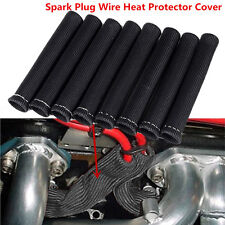 8P SPARK PLUG WIRE BOOTS HEAT SHIELD PROTECTOR COVER  SLEEVE 350 454 BLACK 1200°