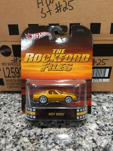 Hot Wheels 2013 Retro Entertainment The Rockford Files HOT BIRD w/ Real Riders