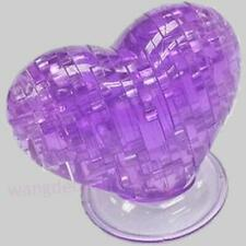3D Crystal Puzzle Jigsaw Model Souptoy Gadget Love Heart IQ Toy DIY Gift new Q