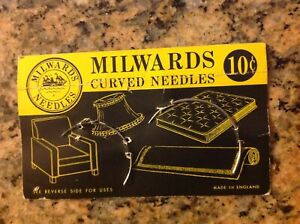 Milwards curved needles