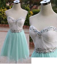 NWT ALEX & SOPKIA $140 White Mint Party Prom Dress 5