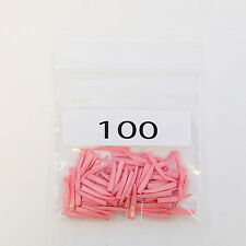 New Dental Disposable Contoured Wood Wedges 100/bag Color Coded Pink Extra Small