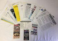 1990's Racing fan club paperwork ~ NASCAR, DRAG RACING, INDY, FORMULA 1