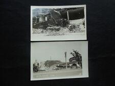 Vintage 1930s COMPTON CA CALIFORNIA Earthquake RPPC Pair Liberal Furniture Sign