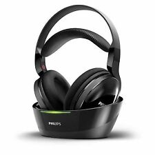 Philips SHC8800 Over the Ear Wireless Headphones with Cradle - Black