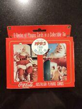 Coca Cola Nostalgia Playing Cards 2 decks In Collectible Tin - 1995