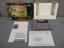 "Super Nintendo ""THE JUNGLE BOOK"" SNES 1994 w/ Box & Insert"
