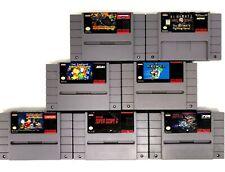SNES Game Lot 7 Nintendo Cartridges - Simpsons R-Type Mickey Mario & More
