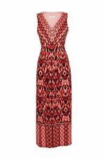 Wallis Red Printed V-Neck Maxi Dress 14