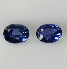 0.19ct!! NATURAL BLUE SAPPHIRE MATCHING PAIR EXPERTLY FACETED IN GERMANY +CERT