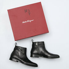 Salvatore Ferragamo Amir Black Leather Chukka Boot - Men's 9.5 E