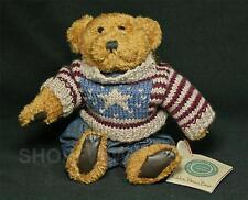 "Vintage Boyds Bears Eddie Bean Bauer 9"" Plush Tan Bear Patriotic Sweater 1996"