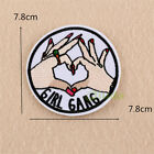 Finger Embroidered Sew Iron On Patch Badge Fabric Bag Clothes Applique Transfer
