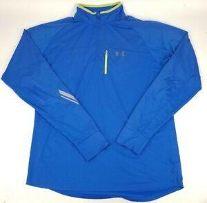 Under armour Running Shirt Quarter Zip Mens X Large Fitted Blue All Season Gear