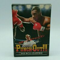 Mike Tyson Punch Out Famicom NES Nintendo Used Japan Boxing Game Boxed Tested